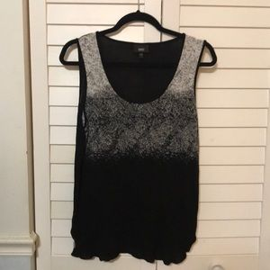Black and white hombre tank-Large
